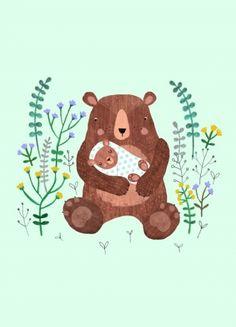 Postkarte Baby Bär
