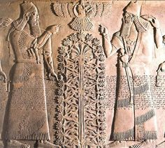 Sumerian carved tablet with Tree of Life
