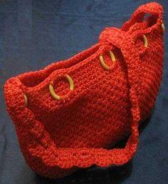 La cartera roja en cola de rata   Tejidos y Patrones Gratis