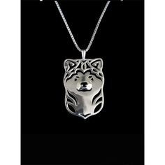 Japanese Akita Inu Silver Pendant and Necklace