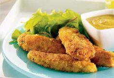 Doigts de poulet croustillant http://www.coupdepouce.com/recettes-cuisine/plats-principaux/volaille/doigts-de-poulet-croustillant/r/4770