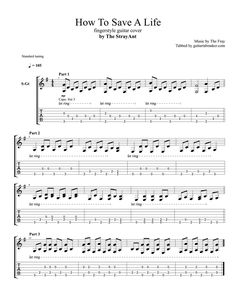 The Fray - How To Save A Life fingerstyle guitar TAB - fingerstyle guitar cover by The Stray Ant - Guitar Pro TAB Acoustic Guitar Notes, Guitar Tabs And Chords, Yamaha Acoustic Guitar, Guitar Tabs Songs, Guitar Sheet Music, Lyrics And Chords, Violin Sheet, Piano Music, Guitar Classes