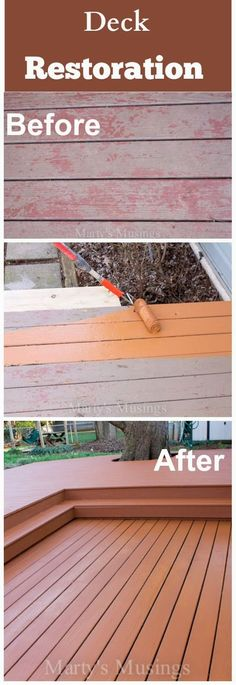 DIY Crafts: Deck Restoration with Behr Premium DeckOver® - Marty's Musings #BEHRDECKOVER