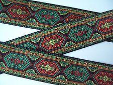 Orientalische Borte,Schwarz,Grün,Rot,Gelb,33mm,lfm