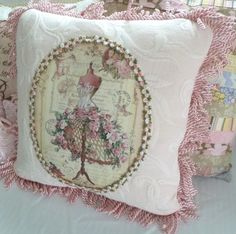 French Parisian Cottage Chic Shabby Chic Throw by OhMyThatsPretty