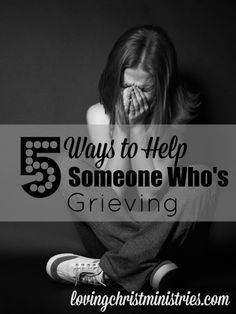When someone we love hurts from grief, it's difficult to know what to do. It's important not to let any hesitance keep us from doing anything at all. Grief Support, Grief Loss, Love Hurts, Before Us, Things To Know, Helping Others, Counseling, Wise Words, Bible Verses
