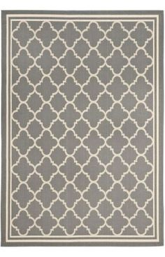 Safavieh Courtyard Trellis CY6918 Anthracite Rug-Rugs USA. Pretty!! Love the pattern! $140 for the size I need.