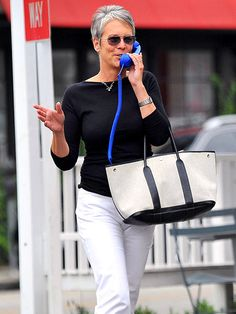 Old phone (attached to cell phone!) Not to mention Jamie Lee Curtis rocks !!