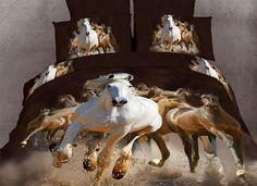 Equestrian Stallions 6PC Duvet Cover Set (King Size)
