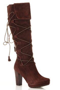 Two Lips  Karma Boots In Dark Brown  $169.00