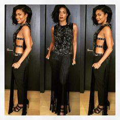 Gabrielle Union wearing Marchesa #fw15