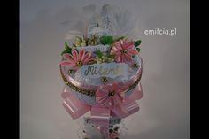 Pamiątka Chrztu Św., CHRZEST Piękna Ozdoba stołu lub jako upominek dla Chrzestnych Pamiątka - Kielich Różowy dla dziewczynki :) http://emilcia.pl/ (y) Chrzest Święty