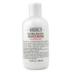 """Kiehl's Ultra Facial Moisturizer (All Skin Types)  250ml/8.4oz Every day moisturizer! It is lightweight, providing just the right amount of moisture for my combination skin.  Oh, and it has sunscreen!"""""""