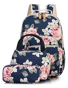 88aca3c5ddb3 Cute Floral School Backpack for Girls