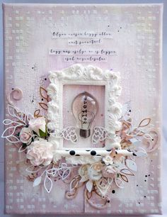 believe - canvas - one little word Mixed Media Canvas, Believe, Floral Wreath, Scrapbook, Craft, Words, Projects, Frames, Mini