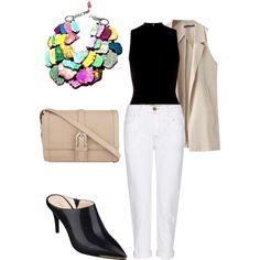 White Jeans by mixed-fa-shion Autumn Winter Fashion, Winter Style, Aspinal Of London, Nine West, White Jeans, Fashion Looks, Polyvore, Leather, Outfit Ideas