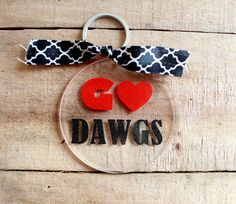 Go Dawgs acrylic keychain by BbsMonograms on Etsy
