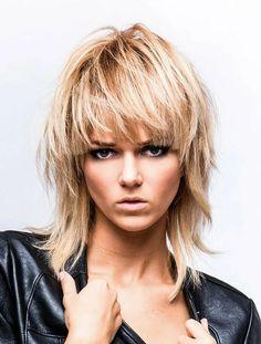 further Long Mullet Hairstyles Women moreover Rocker Hairstyles Long, Long Rocker Hair Styles Medium Shag Haircuts, Short Shag Hairstyles, Shaggy Haircuts, Rocker Hairstyles, Hairstyles 2018, 2018 Haircuts, Rocker Haircuts, Medium Choppy Hair, Funky Haircuts