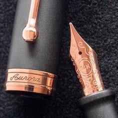 Aurora 88 Satin Black with Rose Gold Trim Fountain pencil obtaining can be a pastime