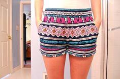 tribal shorts. Want want want.