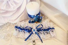 """Купить Подвязка невесты """"Royal Blue"""" - синий, подвязка невесты, подвязка, подвязка свадебная"""