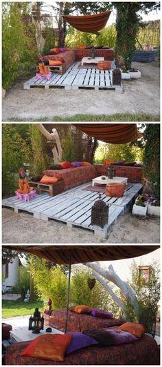 How to make a Lounge Garden. Tinadalbøge.dk