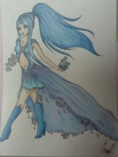 Princesa do fogo azul