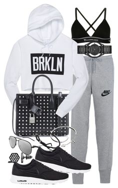 """""""Untitled #19338"""" by florencia95 ❤ liked on Polyvore featuring NIKE, T By Alexander Wang, Yves Saint Laurent, Cartier, Marc by Marc Jacobs, Simply Vera and David Yurman"""