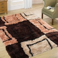 "Shop for Allstar Mocha Mix High Density and High Quality High End Shaggy Area Rug. Very Soft Extra comfort (3' 8"" x 5' 1""). Get free shipping at Overstock.com - Your Online Home Decor Outlet Store! Get 5% in rewards with Club O!"
