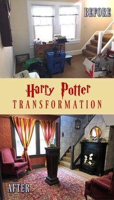 Harry Potter Items, Harry Potter Decor, Basement Movie Room, Cabin Interior Design, Harry Potter Bedroom, Future Library, Room Ideas, Decor Ideas, Common Room