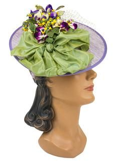 Louise Green Lavender Whimsy Fascinator 5129wy lavender whimsy fascinator purple-grn