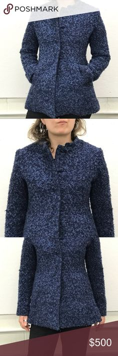 100% Alpaca Coat Purchased during my trip to Bolivia (this past Jan). Verified alpaca, handmade, purchased in Sucre.  Lined inside. Fuzzy blue, pics true to color. Warm, elegant, buttons.  Insanely adorable yet sophisticated, truly a Coat for multiple occasions   😍❗️ impulse purchase, too nice for my current lifestyle. Would love for it to travel to a new home🙂Looking to sell quickly, pls feel free to make an offer! Will ship same or next day!📭📦 it's also too big on me, model in photos…