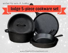 January Giveaway: Lodge 5-Piece Cookware Set!