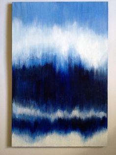 Ombre Custom Abstract Painting on Canvas by paintingsbykegilmore