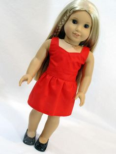 American Girl Doll Sweetheart Dress – Avanna Girl