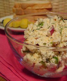 Kahvaltilik Lor Salatasi Kebab Recipes, Potato Salad, Potatoes, Breakfast, Ethnic Recipes, Food, Morning Coffee, Recipes, Essen