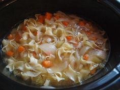 Crockpot Chicken Noodle Soup - the perfect dinner that cooks while you're at work