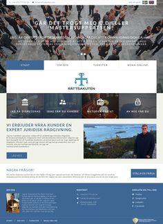 """Юридическая фирма Rättsakuten оказывает широкий спектр услуг в Швеции. Сайт-визитка подробно описывает виды услуг фирмы. В окне """"Форма заявки"""" посетитель может задать возникший вопрос."""