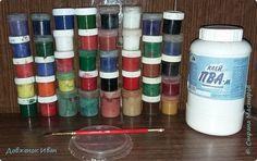 festés Мастер-класс Плетение Окраска бумажных трубочек МК Бумага газетная Гуашь Клей Трубочки бумажные фото 2