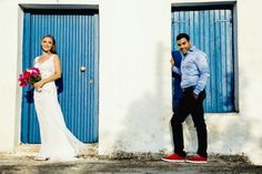 Blue and white, island wedding #kosmaschris #rome #destinationwedding #instagood #fineart #styled #love #instalove #bride #btidal #weddingmakeup