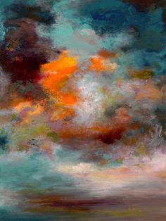 """Saatchi Art Artist Rikka Ayasaki; Painting, """"Passions, Twilight 7000 (Painted in 2011, 116x81cm) """" #art"""