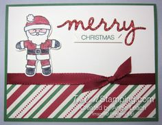 Cookie Cutter Christmas Sparkly Merry Santa - Too Cool Stamping