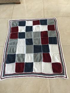 knits, purls, quilts and hooks: Woollen squares blanket
