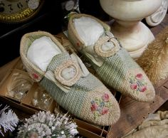 Antique Crocheted Slippers