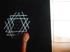 ▶ Simple rangoli for puja room - Aishwarya kolam - YouTube