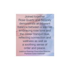 Pantone Color of the Year 2016 - Rose Quartz and Serenity ($5.99) ❤ liked on Polyvore featuring pantone