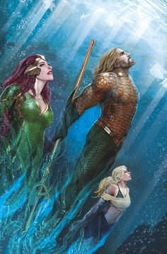 Getting closer to seeing Aquaman on the big screen! Let's keep my countdown of Top 10 Aquaman Artists going with numbers 6 and Stjepan Sejic. Bearded Aquaman hasn't been represented much so. Marvel Vs, Marvel Dc Comics, Comics Anime, Dc Comics Art, Mera Dc Comics, Nightwing, Batwoman, Deathstroke Batman, Aquaman Dc