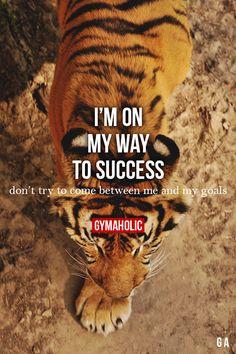 Je suis sur mon chemin vers la réussite Ne pas essayer de venir entre moi et mes objectifs.