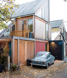 Marcus Lee and Rachel Hart's wonderful wooden home sits at the end of a quiet London lane and politely turns its back on the workshops ne...