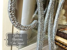 Wedding Cake Topper Glitter Bling Crystal by RadiantlyVivacious